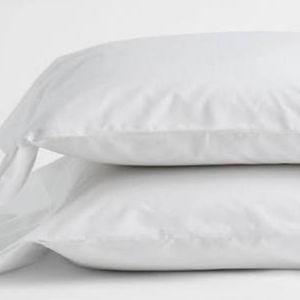 1100 Thread Count White Pillowcase